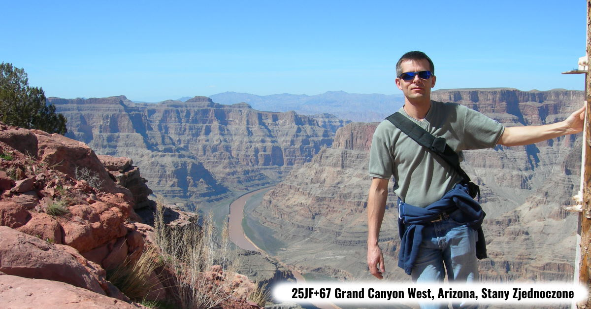 Autor w 25JF+67 Grand Canyon West, Arizona, Stany Zjednoczone
