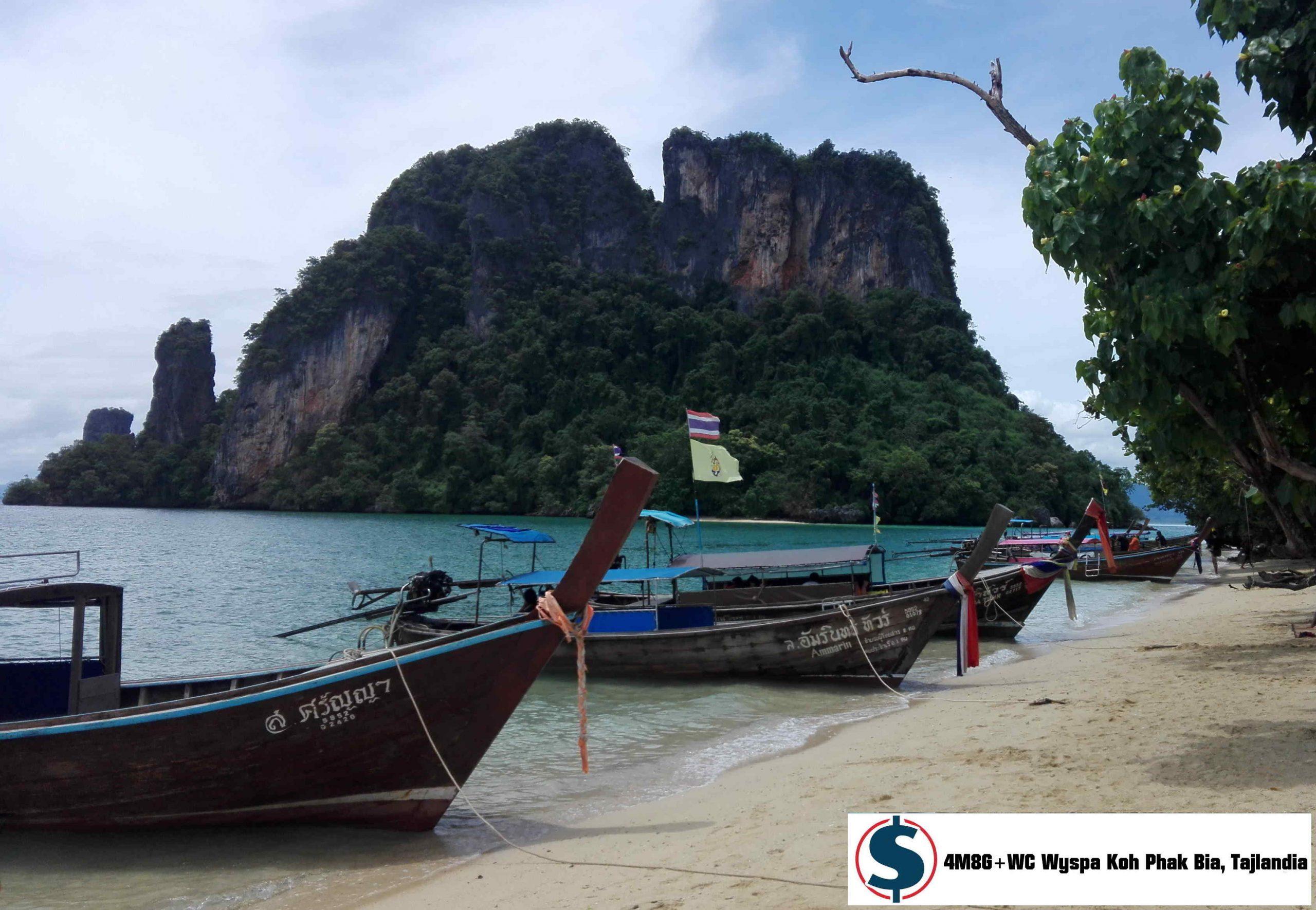 Pamiętasz reklamy OFE? Łodzie na plaży 4M8G+WC Wyspa Koh Phak Bia Tajlandia
