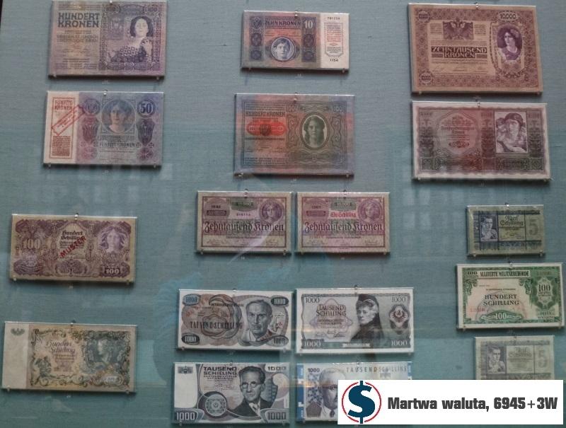 martwa waluta w Muzeum Historii naturalnej Wiedeń